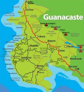 Guanacaste mapa carretero guanacaste costa rica for Bombas de agua costa rica